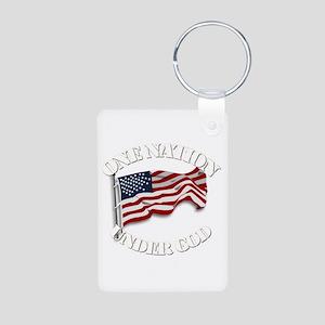 On Nation Under God Aluminum Photo Keychains