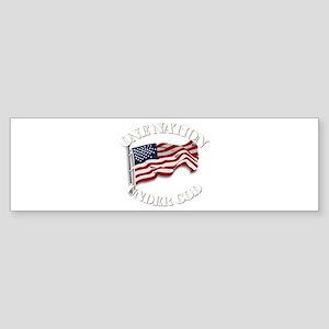 On Nation Under God Sticker (Bumper)