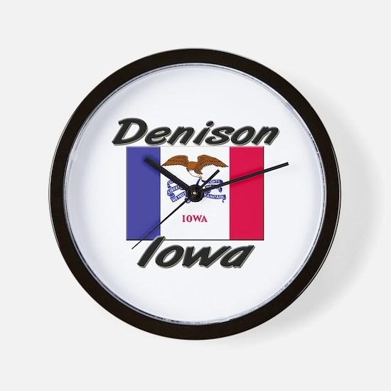 Denison Iowa Wall Clock