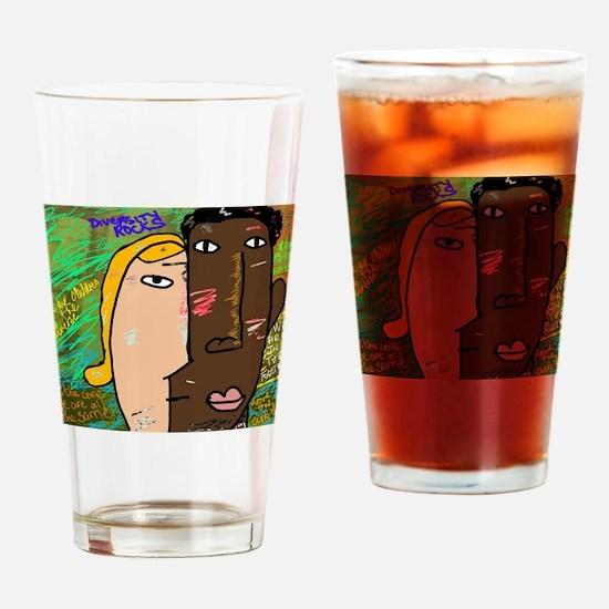 Diversity rocks Drinking Glass