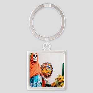 Day of the Dead Altar with Skeleton Lady Keychains