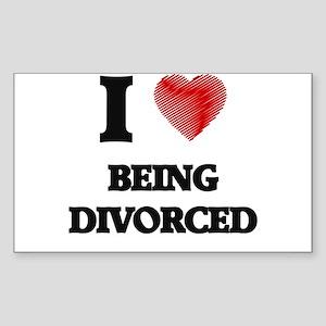 Being Divorced Sticker