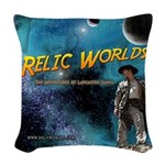 Relic Worlds Woven Throw Pillow