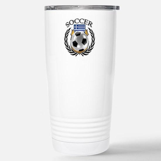 Greece Soccer Fan Stainless Steel Travel Mug