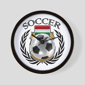 Hungary Soccer Fan Wall Clock