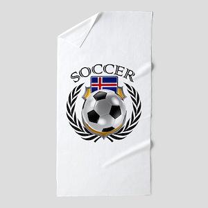 Iceland Soccer Fan Beach Towel
