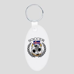 Iceland Soccer Fan Keychains