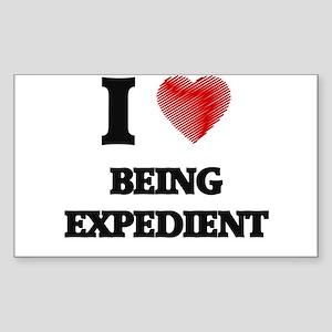 Being Expedient Sticker