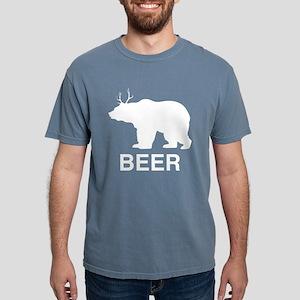 Beer. Bear with Deer Antlers T-Shirt