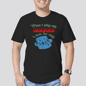 When i play my Dobro I Men's Fitted T-Shirt (dark)
