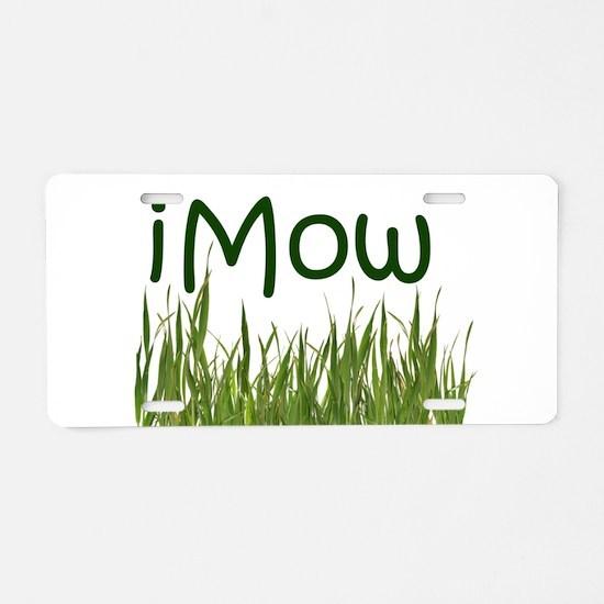 iMow Aluminum License Plate