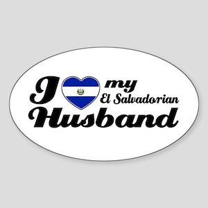 I love my El Salvadorian Husband Oval Sticker