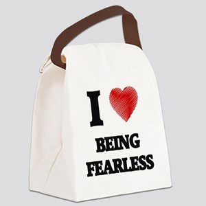Being Fearless Canvas Lunch Bag