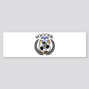 Israel Soccer Fan Bumper Sticker