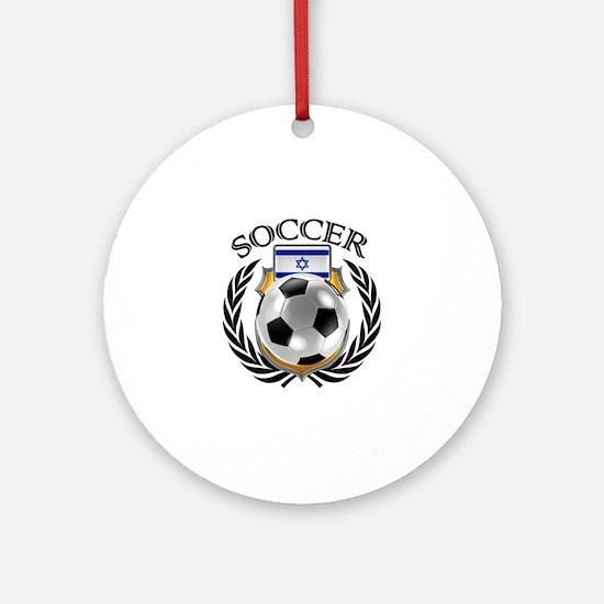 Israel Soccer Fan Round Ornament