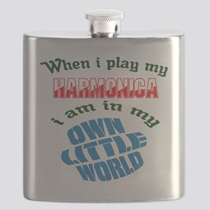 When i play my harmonica I'm in my own littl Flask