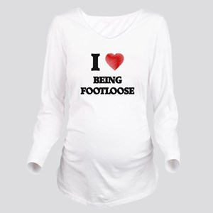 Being Footloose Long Sleeve Maternity T-Shirt