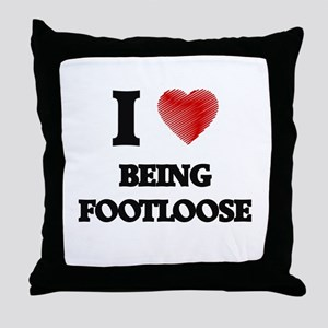 Being Footloose Throw Pillow
