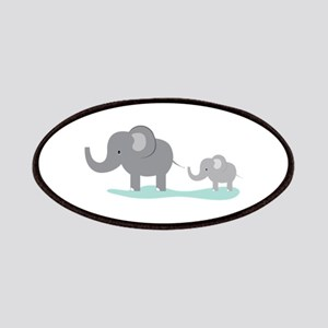 Elephant And Cub Patch