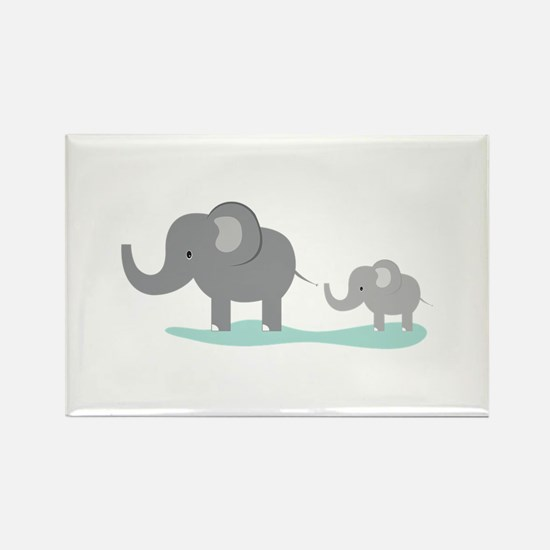 Elephant And Cub Magnets