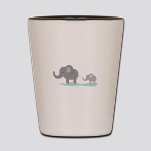 Elephant And Cub Shot Glass