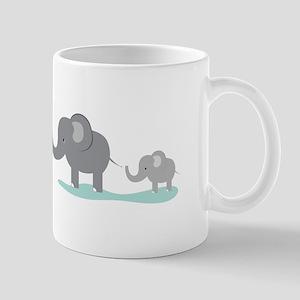 Elephant And Cub Mugs
