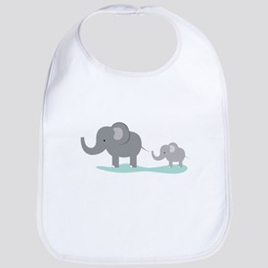 Elephant And Cub Bib