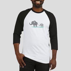 Elephant And Cub Baseball Jersey