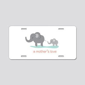 A Mothers Love Aluminum License Plate