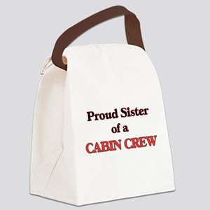 Proud Sister of a Cabin Crew Canvas Lunch Bag