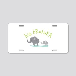 Elephant Big Brother Aluminum License Plate