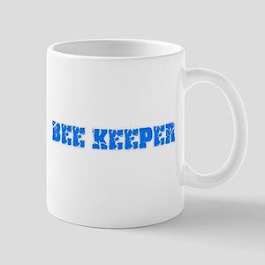 Bee Keeper Blue Bold Design Mugs