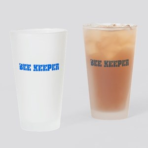 Bee Keeper Blue Bold Design Drinking Glass
