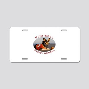 Football Party Animal Aluminum License Plate