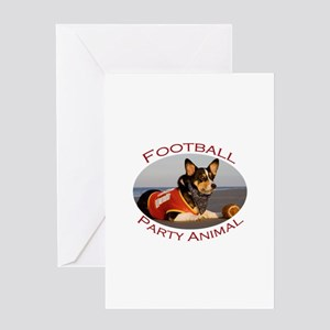 Football Party Animal Greeting Cards