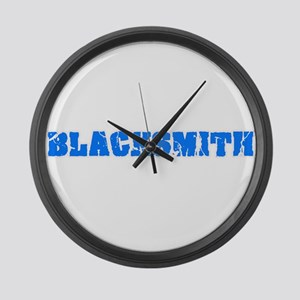 Blacksmith Blue Bold Design Large Wall Clock