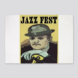 Jazz Man at Fest 5'x7'Area Rug