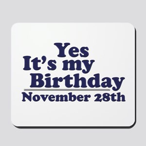 November 28th Birthday Mousepad