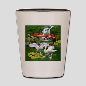 The Swan Family Shot Glass