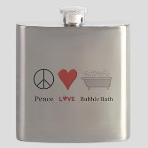 Peace Love Bubble Bath Flask