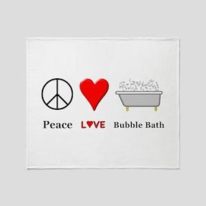 Peace Love Bubble Bath Throw Blanket