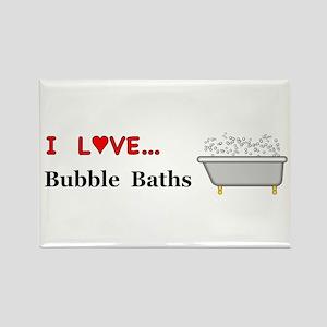Love Bubble Baths Rectangle Magnet