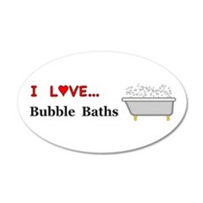 Love Bubble Baths Wall Decal