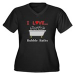 Love Bubble Women's Plus Size V-Neck Dark T-Shirt