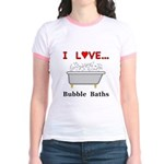 Love Bubble Baths Jr. Ringer T-Shirt