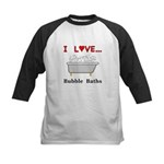 Love Bubble Baths Kids Baseball Jersey