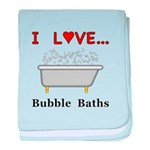 Love Bubble Baths baby blanket