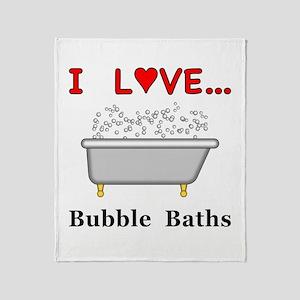 Love Bubble Baths Throw Blanket