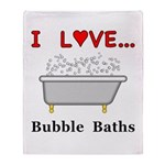 Love Bubble Baths Throw Blanket