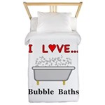 Love Bubble Baths Twin Duvet